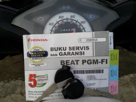 BEAT FI 2014 GRESS SEPERTI BARU PLAT JAKARTA