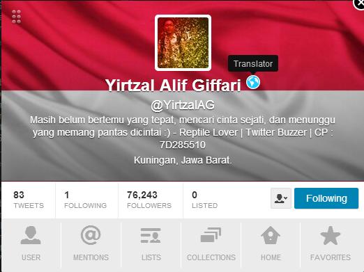 Akun twitter 76.000 Followers Have Badge !!!!