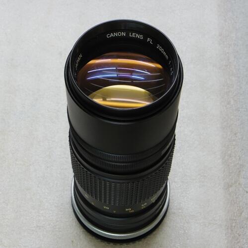 Canon 200mm f/4.5 FL mount Telephoto lens