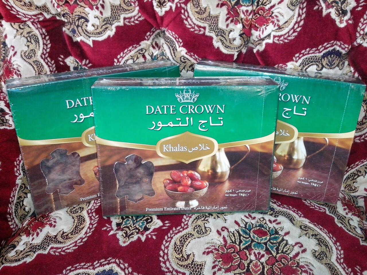 Terjual Grosir Kurma Date Crown Khalas Saudi Update Harga Terbaru 1kg