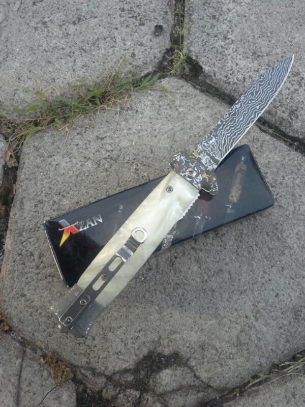 Striker Pearl Tactical Pocket Knife (Damascus Engravings)/Pisau original