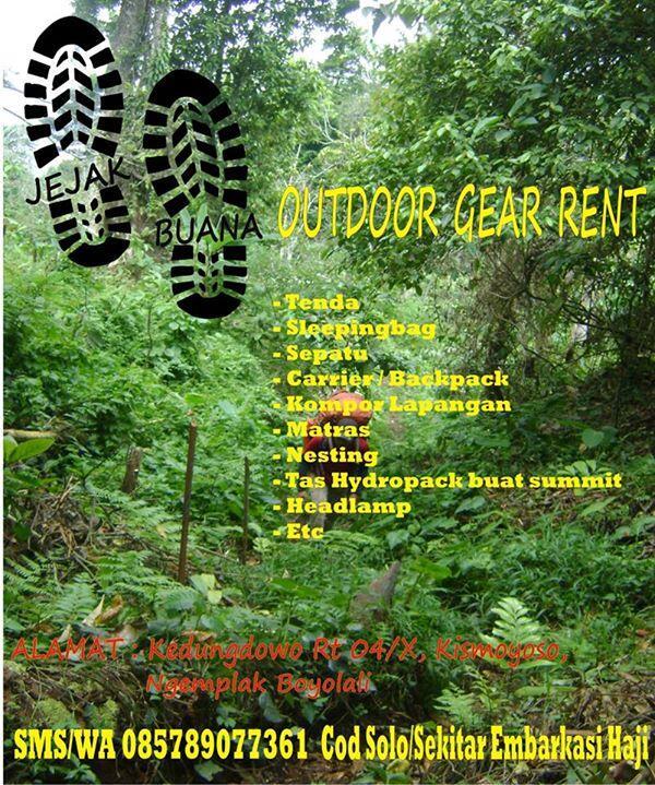 Jejak buan outdoor rent