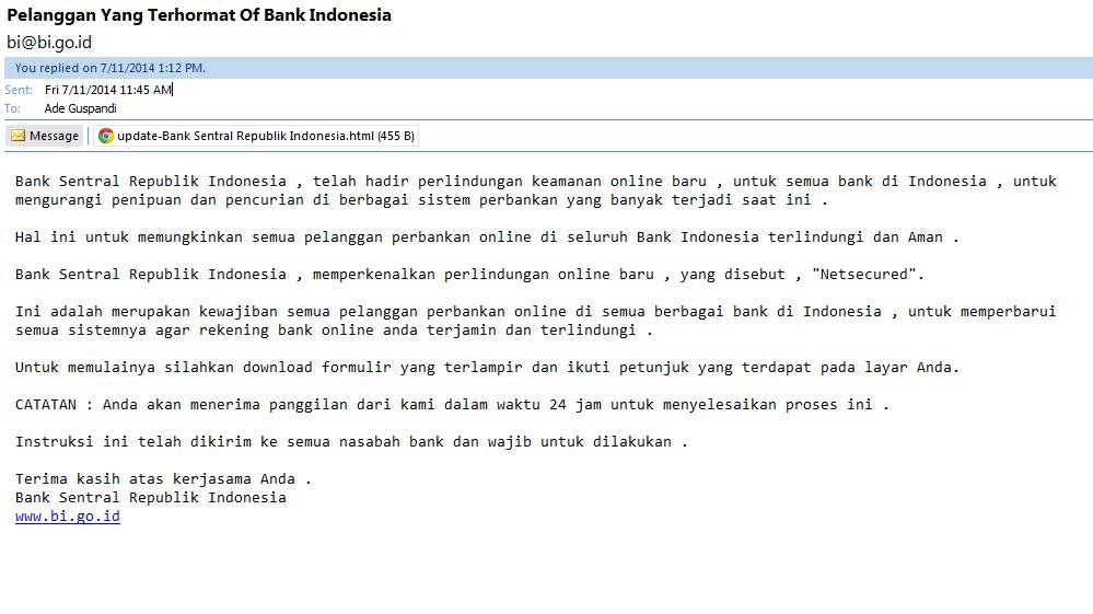 Hati hati dengan email ini bi@bi.go.id