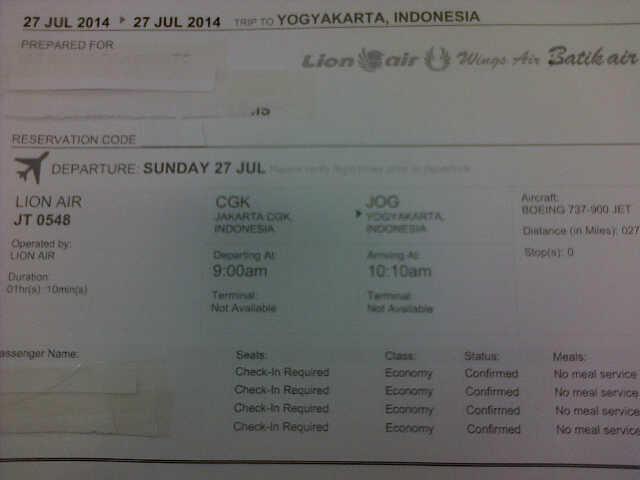 Terjual Tiket Pesawat Jakarta Jogja 27 Juli Untuk Mudik