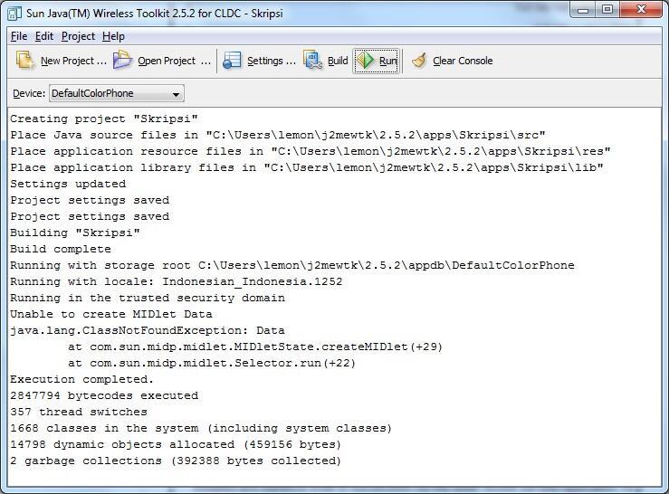 [ASK] Error Java WTK 2.5.2