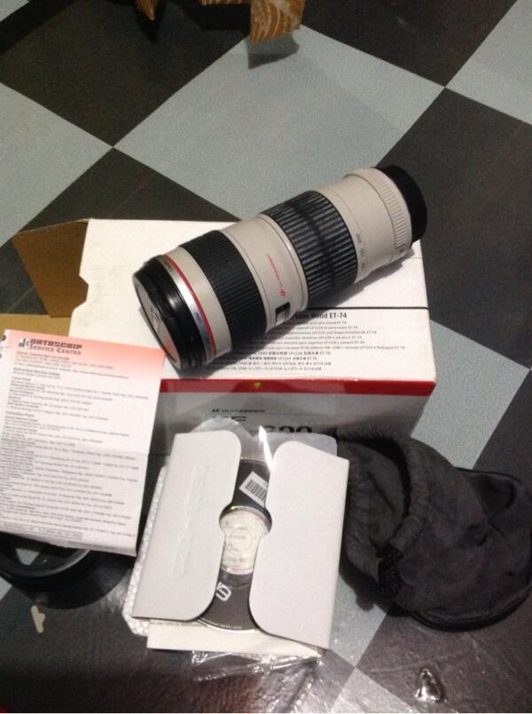 Dijual lensa canon 70-200 L series, F4 non is
