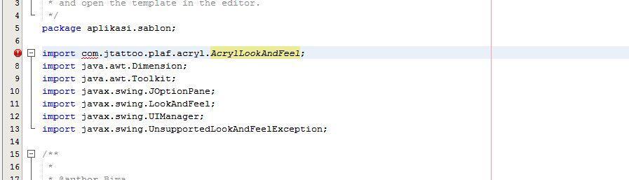 import jar hasil build gak bisa gan (NETBEANS)