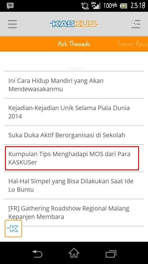 Tips Gokil untuk MOS (MASUK GAN!)