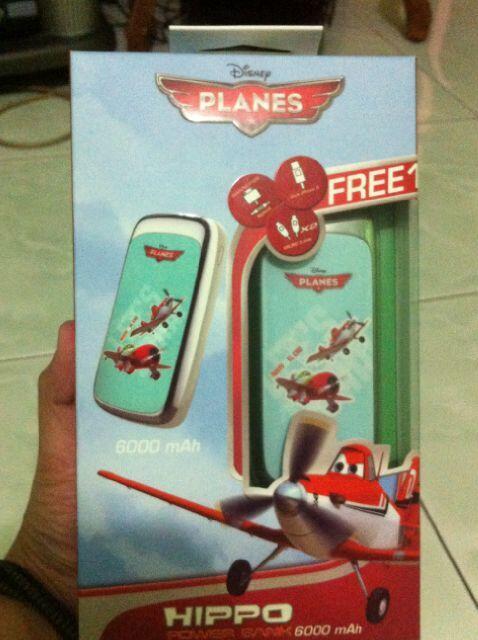 Powerbank Hippo 6000 Mah Mumer Plane Edition