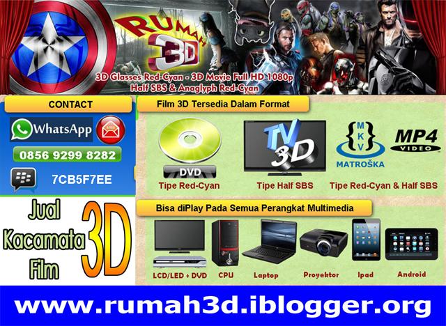 DVD 3D Red-Cyan & Kacamata 3D