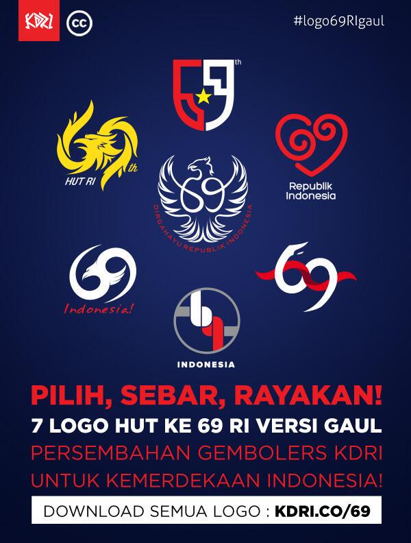 Logo HUT Ke-69 RI Versi Gaul - Kementerian Desain RI | KASKUS