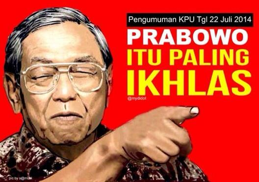 Image result for gus dur, prabowo paling ikhlas