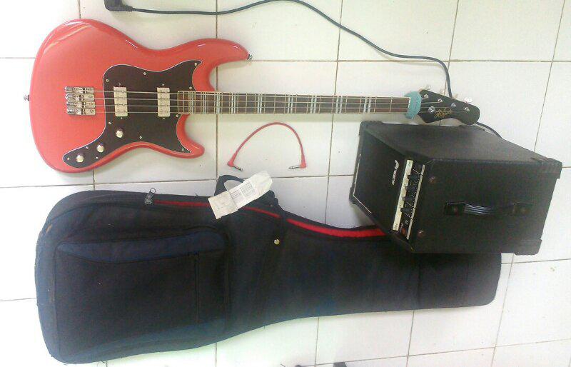 Paket Bass, Ampli, Gigbag (ORI) 1,6jt aja