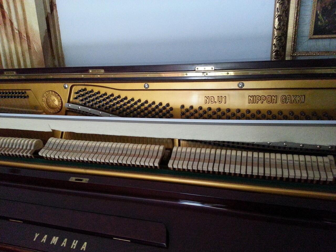 PIANO YAMAHA U1 LIKE NEW SERTIPIKAT MADE IN JAPAN