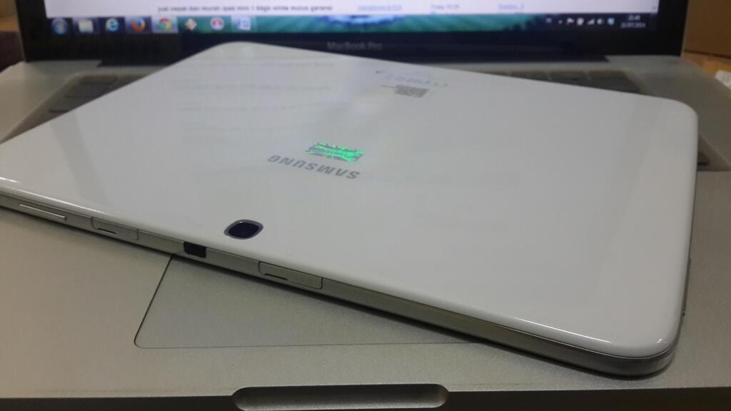 samsung galaxy tab 3 gt - p5200 10 inc white mulus garansi fullset