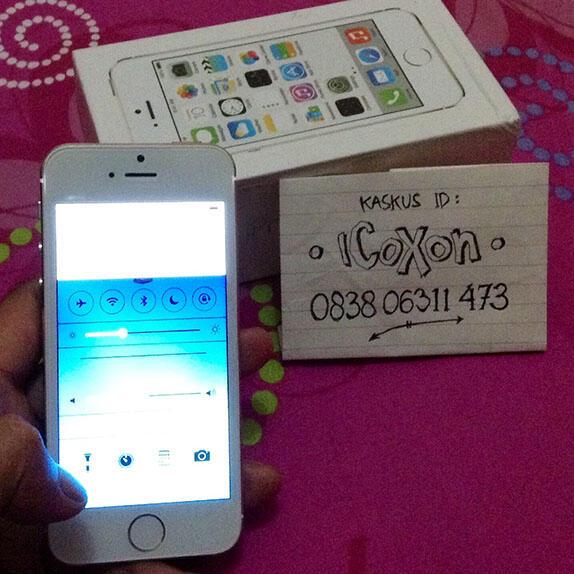 [WTS] iPhone 5S GOLD REPLIKA - FULLSET FingerID support (murah, baru seminggu pakai)