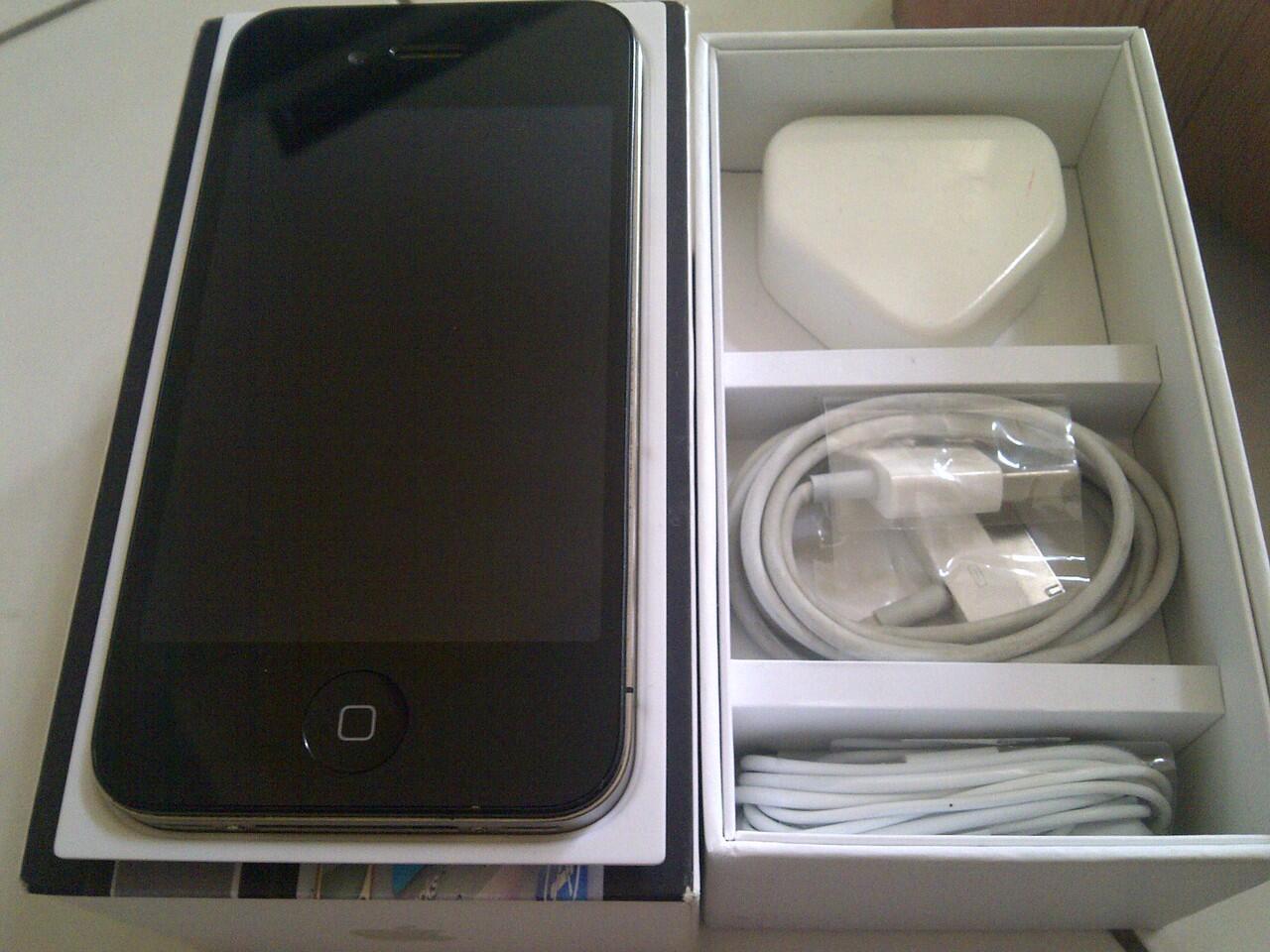Jual Cepat Iphone 4G 32gb GSM Black MULUS