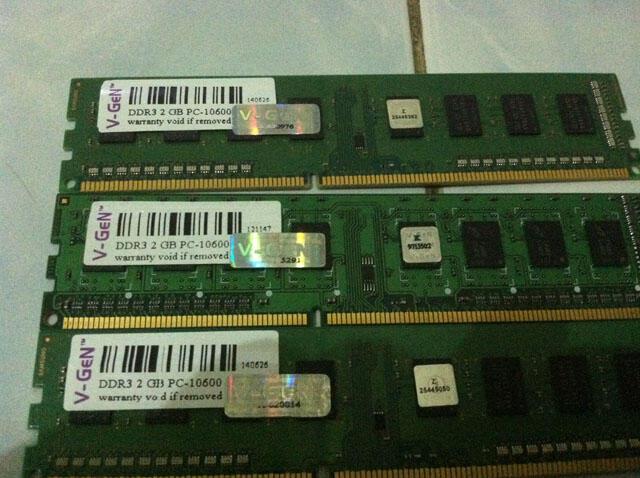 RAM VGEN DDR 3 2GB PC 10600 , 3 PCS