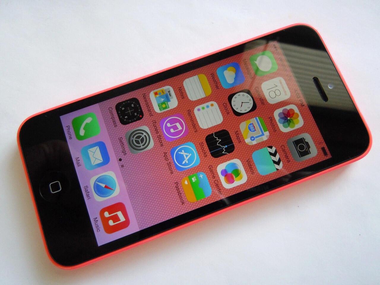 Apple iPhone 5c 16 GB Sprint Red // Pink SU Batangan