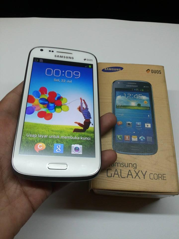 Samsung galaxy core duos white mulus masih garansi panjang [[bantul yogya]]