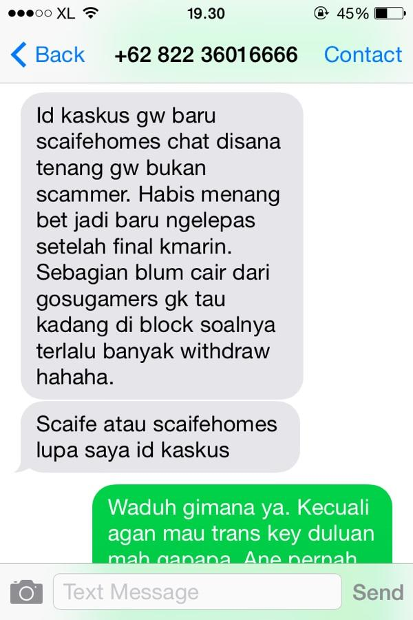 Berhati hati dengan penjual key bernama Scaife
