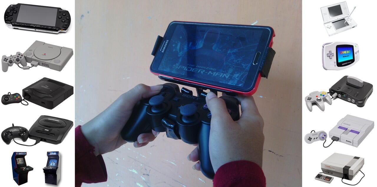 Handmade Gameklip Universal dan Joystick PS3 for Android