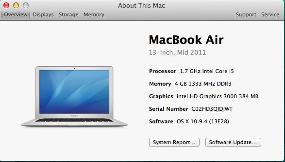 "Macbook Air | 13"" | iCore i5 1.7ghz | 128GB SSD| 4GB DDR3 | DENT"