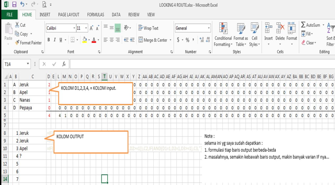 [Ask][Excel] Kombinasi Rumus Excel yang tepat?
