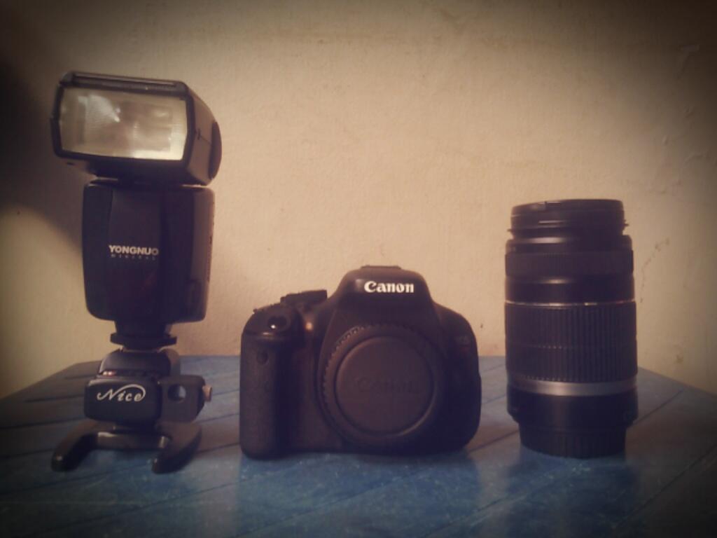 [WTS] Camera Canon EOS kiss X5/600D + Tele 55-250mm + Speedlite YN460-II