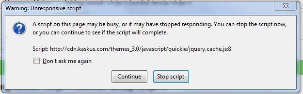 kaskus stop script terus