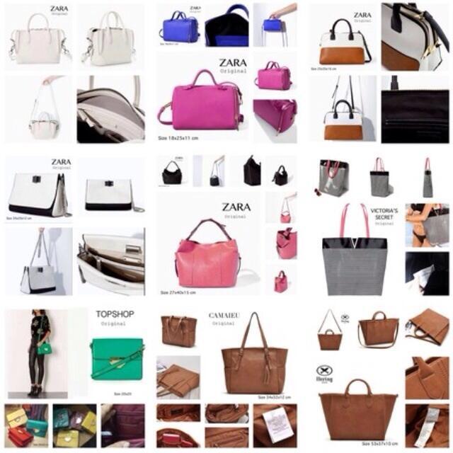 Terjual Branded bags 100% original Zara Mango Charles   Keith  0364c74d58
