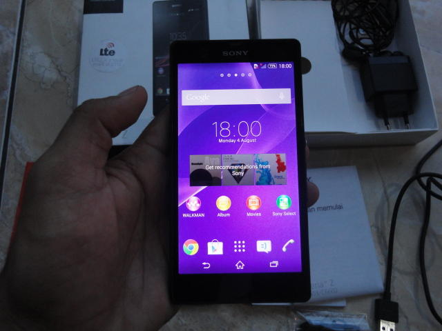 "Sony Xperia Z LTE C6603 "" Warna Hitam "" FULLSET & Mulus"
