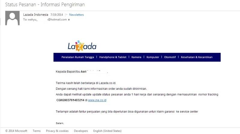 JANGAN PERNAH BERBELANJA DI LAZADA.CO.ID