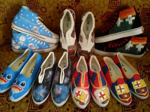 Terjual Sepatu Lukis Murah Bandung (ukuran 22-43 bisa f4881c1782