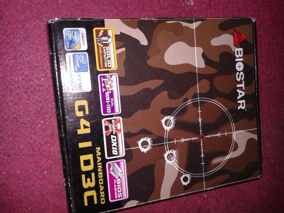 Terjual Biostar G41D3C LGA 775 Jual BU Fullset