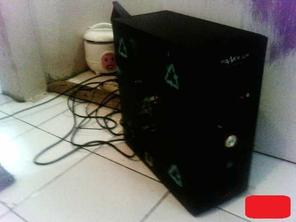 sepaket Komputer Amd Athlon Dan Lcd Benq 17 Inch bandung
