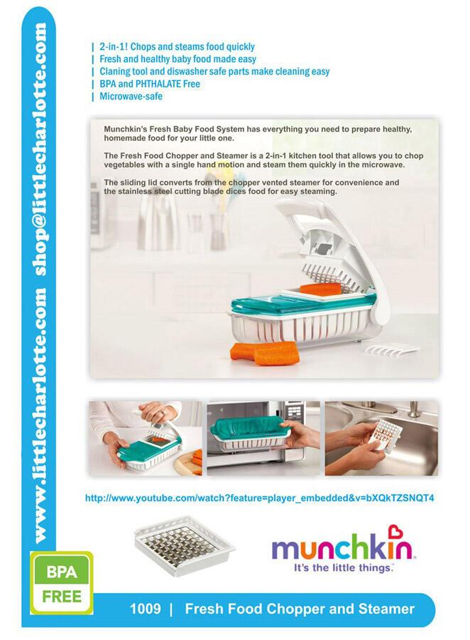Munchkin Fresh Food Chopper And Steamer Instructions