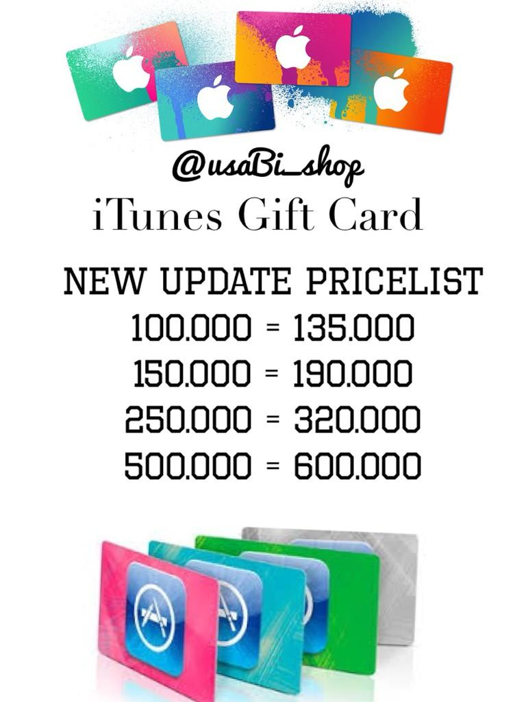 Jual Itunes Gift Cards (IGC)