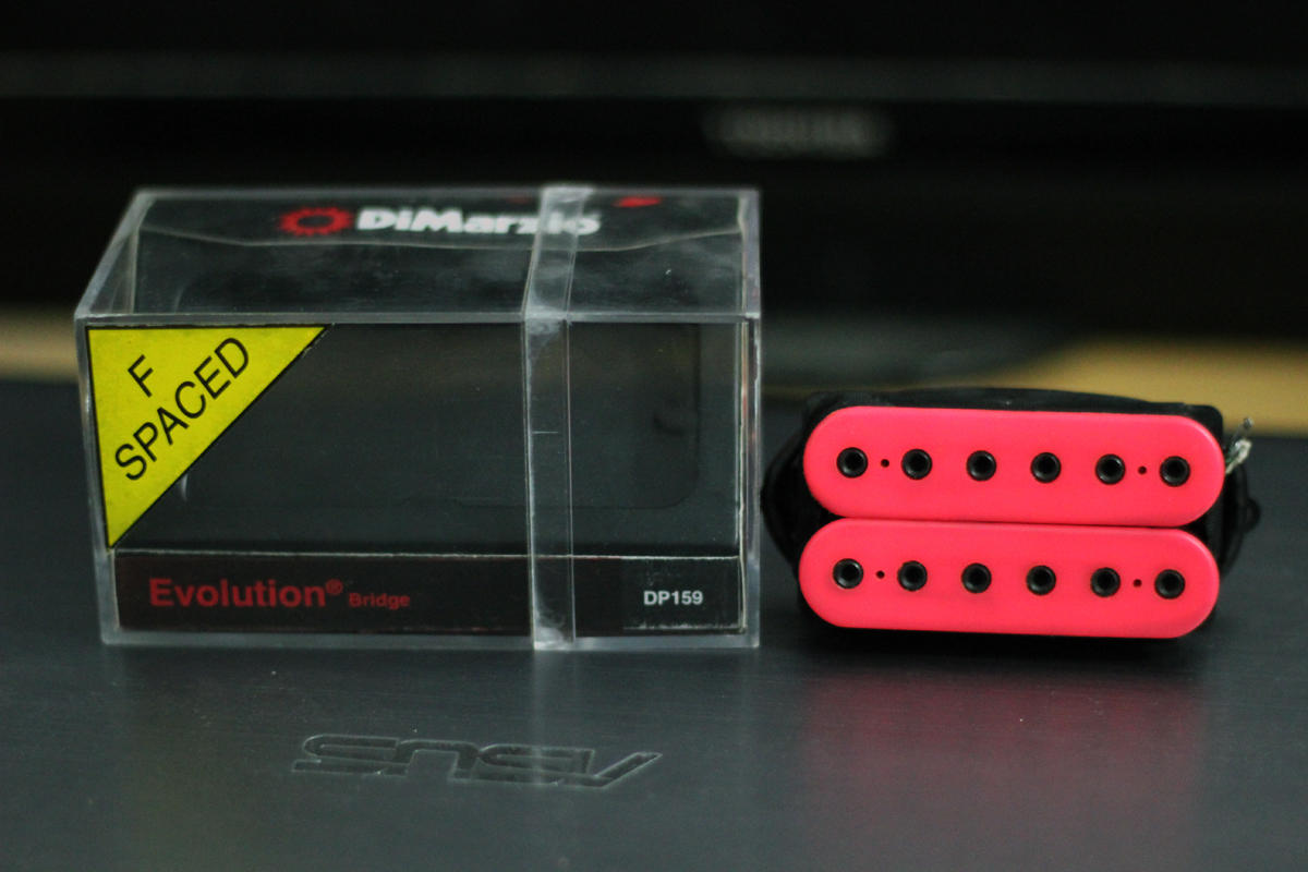 Jual Pickup Humbucker Dimarzio Evolution (Bridge) DP159 F-Spaced Pink With Box