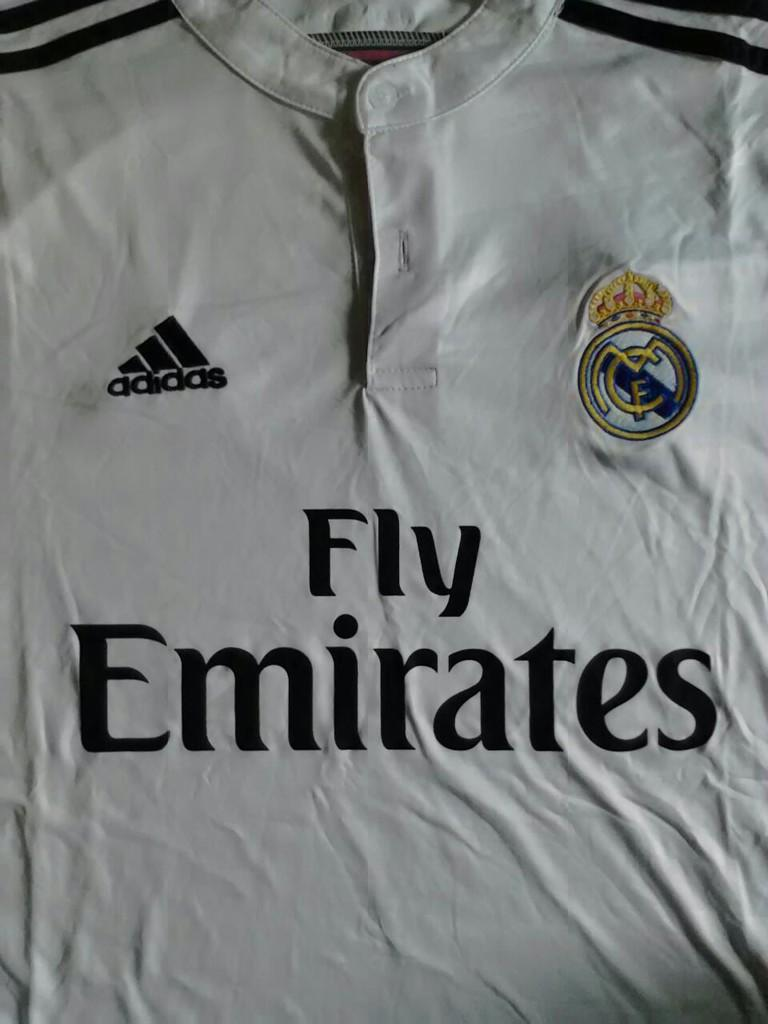 jersey real madrid home putih 2014/2015 size XL