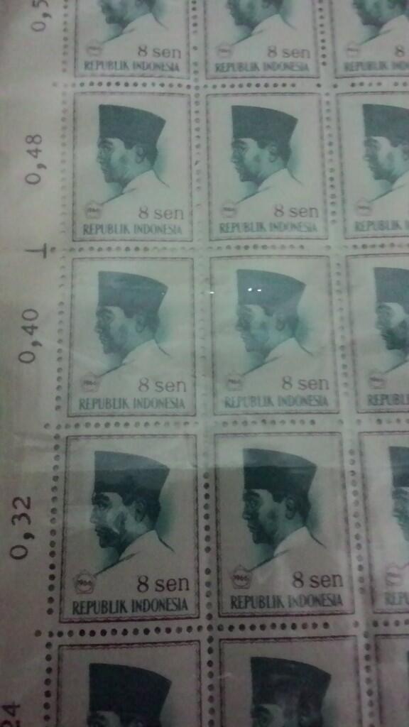 Prangko Kuno Gambar Pak Soekarno (Kondisi Istimewa, Lembaran, No Stamp)