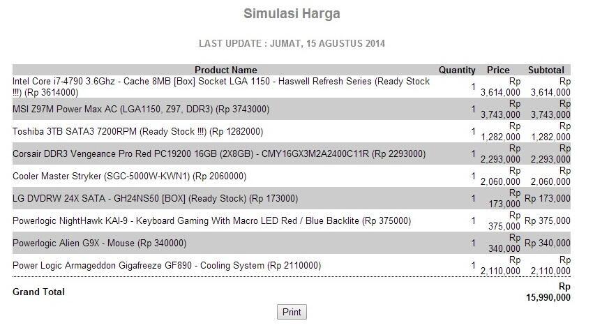 i7 4790 haswell, z97 Mpower , Corsair 16gb dll
