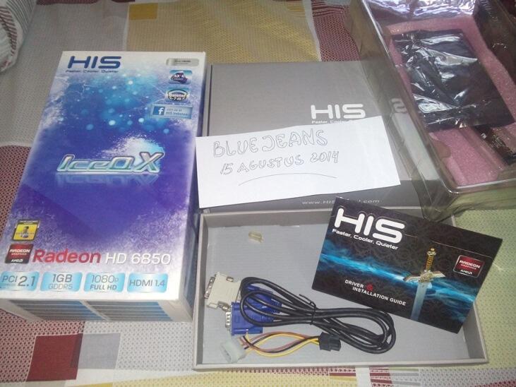 VGA ATi HIS 6850 IceQX 256 bit 1 GB DDR5