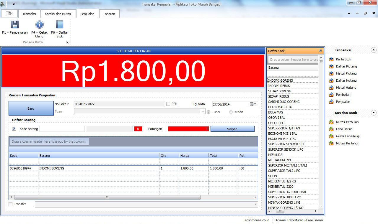 Aplikasi Kasir Akuntansi Murah Banget