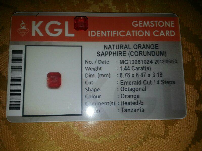 orange safir