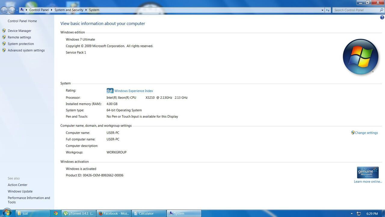 Cpu sepaket Xeon X3210 quad core ram corsair 4gb masuk dulu
