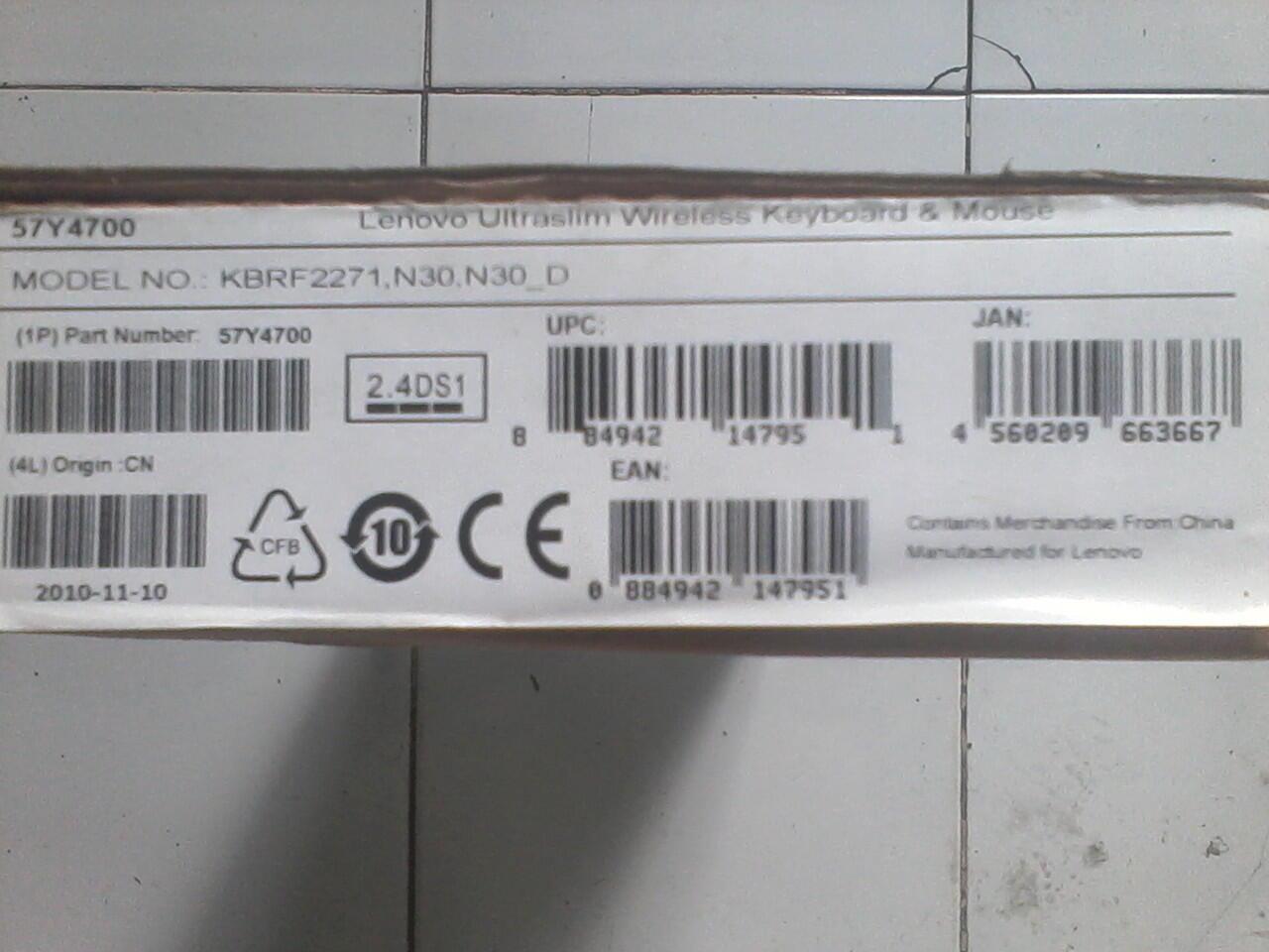 Lenovo ultraslim wireless keyboard & mouse