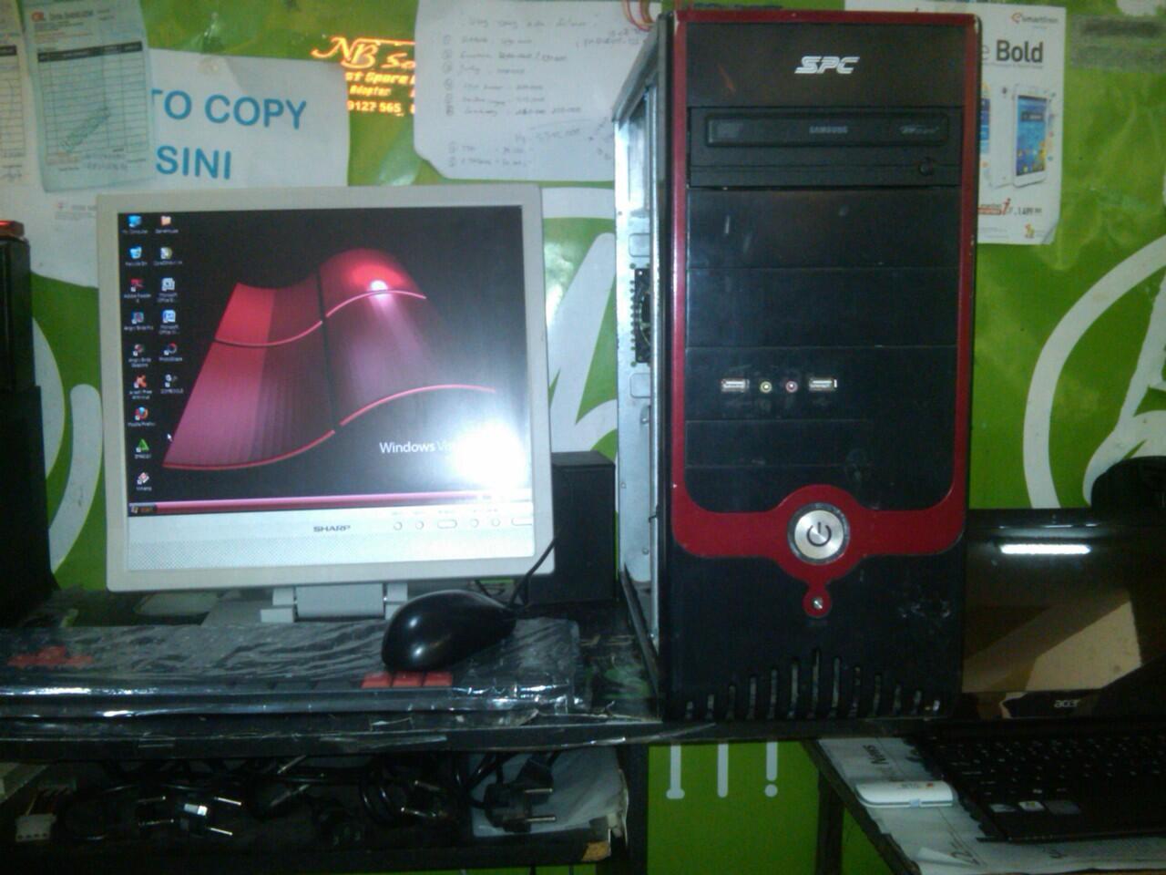 paket komputer intel CORE2DUO 2ghz hdd 300gb bergaransi...