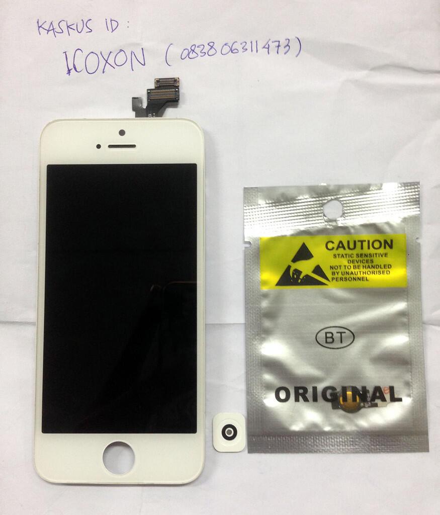 [WTS] LCD Copotan iPhone 5 white Mulus (Bergaris)