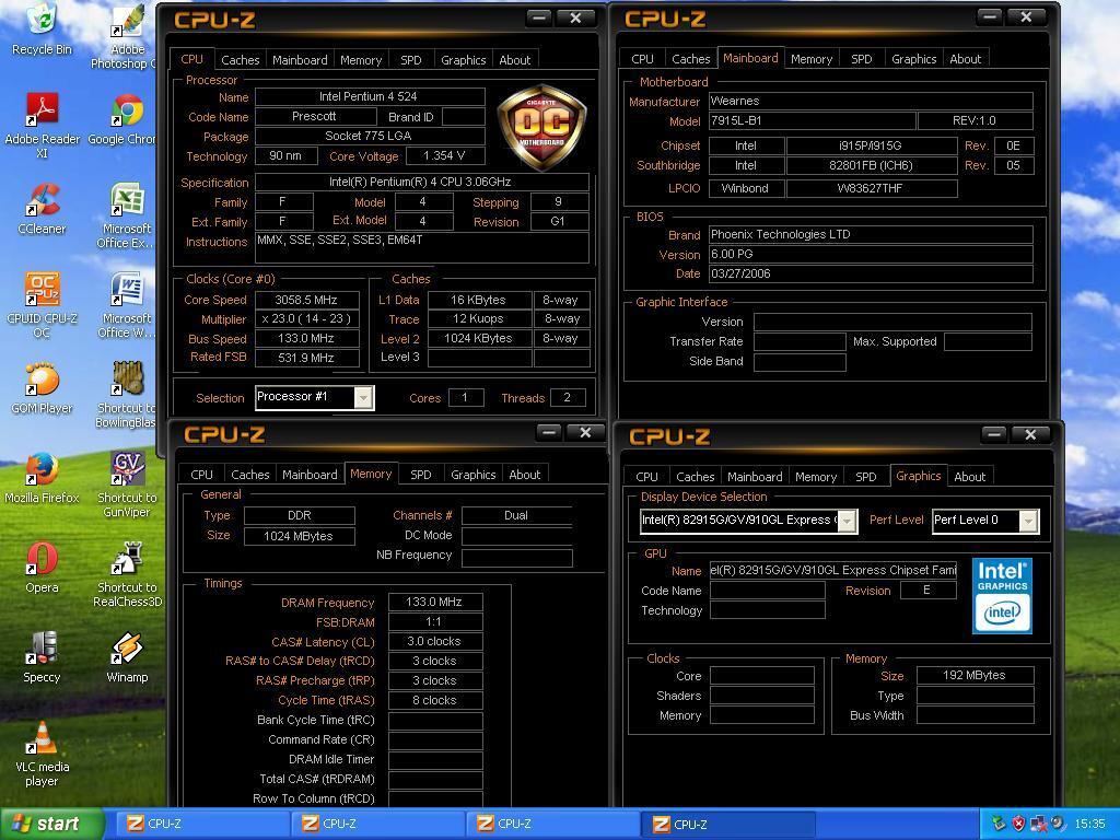Cpu P4 Lga 775 Hd 80gb Ram 1gb